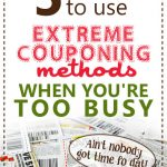 5 Ways To Use Extreme-Couponing Methods When You're Too Busy