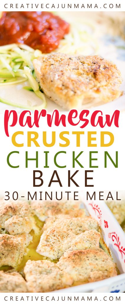 Parmesan Crusted Chicken Bake | A Naturally Low-Carb Meal, Gluten-Free, Keto-Friendly