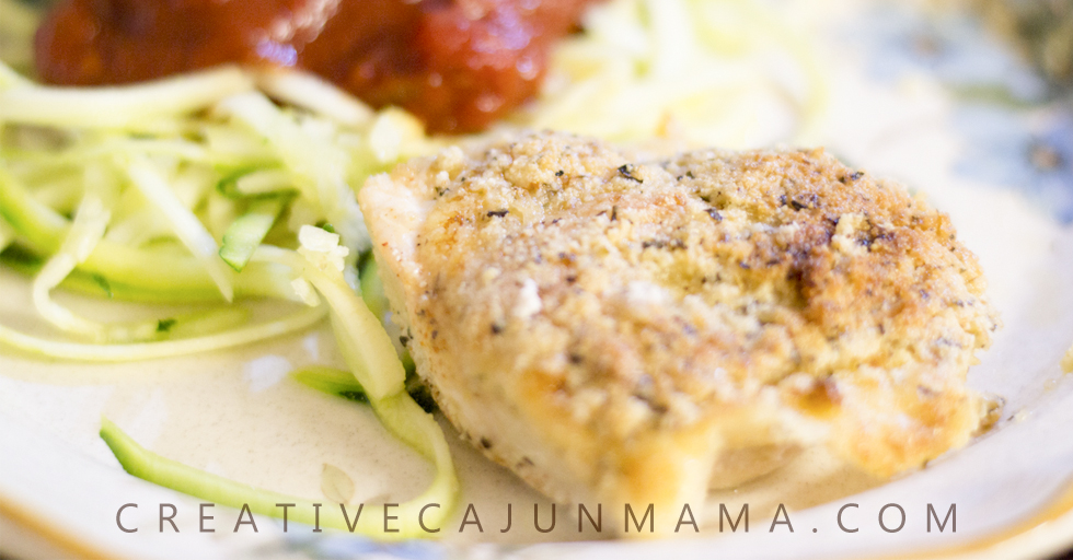 Parmesan Crusted Chicken Bake | A Naturally Low-Carb Meal