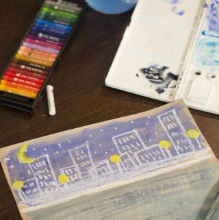 Reflection Art Lesson | Oil Pastel & Watercolor