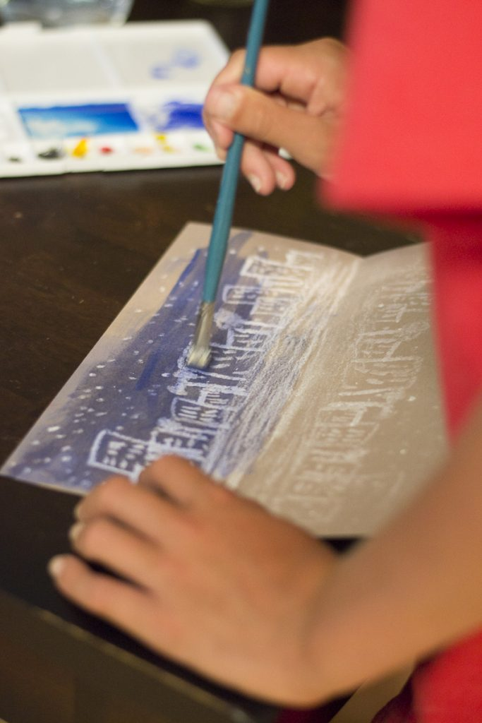Reflections Art Lesson | Oil Pastel & Watercolor