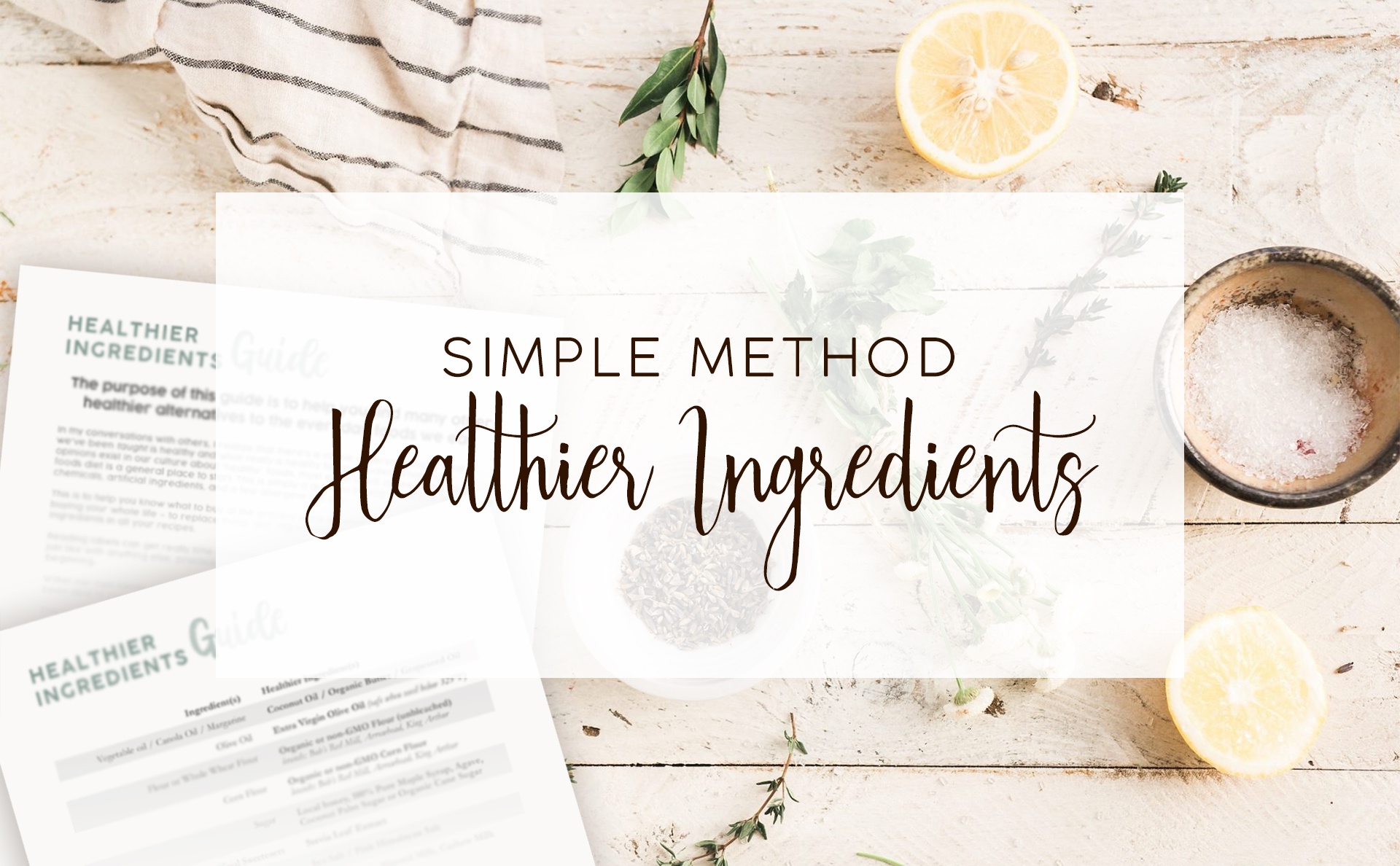 Creative Cajun Mama | Healthier Ingredients Guide