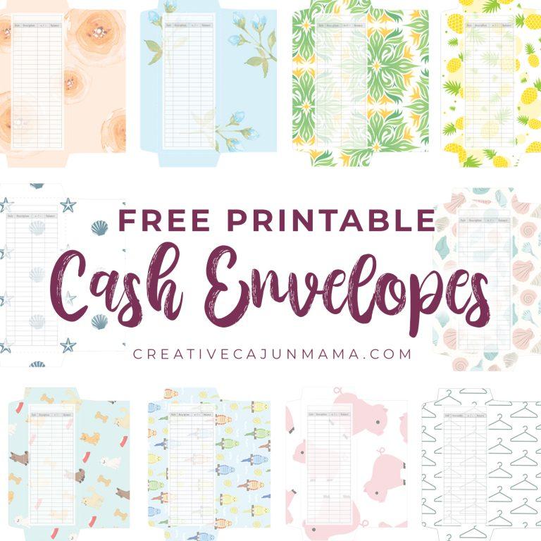 Take Control of Your Spending Using Cash Envelopes + FREE Printable Envelopes!