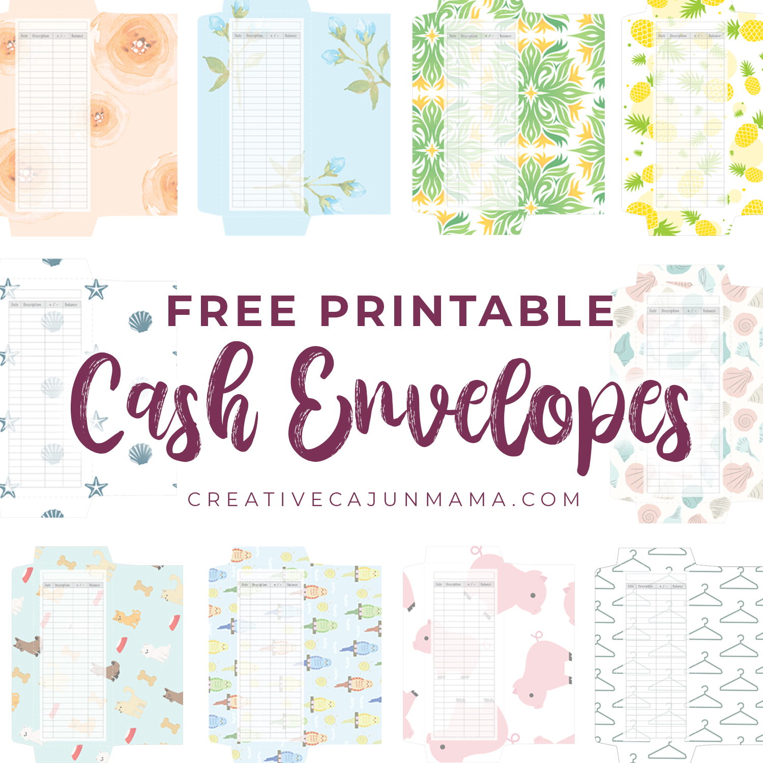This is an image of Satisfactory Free Printable Cash Envelopes
